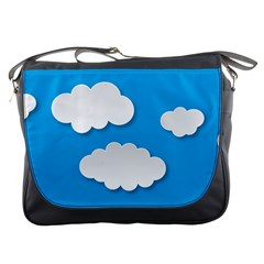 Clouds Sky Background Comic Messenger Bags