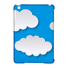 Clouds Sky Background Comic Apple Ipad Mini Hardshell Case (compatible With Smart Cover)
