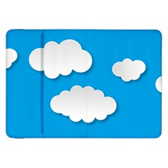 Clouds Sky Background Comic Samsung Galaxy Tab 8 9  P7300 Flip Case