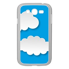 Clouds Sky Background Comic Samsung Galaxy Grand Duos I9082 Case (white)