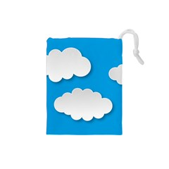 Clouds Sky Background Comic Drawstring Pouches (small)  by BangZart