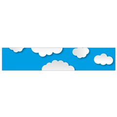 Clouds Sky Background Comic Small Flano Scarf by BangZart