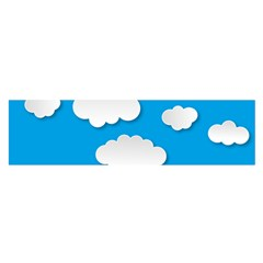 Clouds Sky Background Comic Satin Scarf (oblong)
