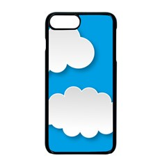 Clouds Sky Background Comic Apple Iphone 7 Plus Seamless Case (black)