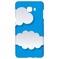 Clouds Sky Background Comic Samsung C9 Pro Hardshell Case