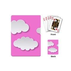 Clouds Sky Pink Comic Background Playing Cards (mini)