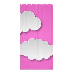 Clouds Sky Pink Comic Background Shower Curtain 36  X 72  (stall)  by BangZart