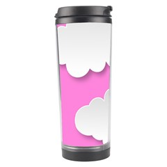 Clouds Sky Pink Comic Background Travel Tumbler