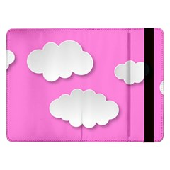 Clouds Sky Pink Comic Background Samsung Galaxy Tab Pro 12 2  Flip Case