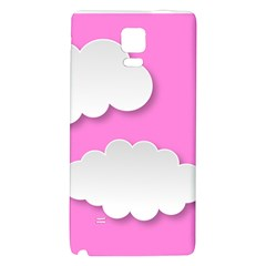 Clouds Sky Pink Comic Background Galaxy Note 4 Back Case