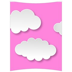 Clouds Sky Pink Comic Background Back Support Cushion by BangZart