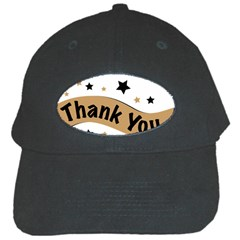 Thank You Lettering Thank You Ornament Banner Black Cap by BangZart
