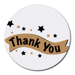 Thank You Lettering Thank You Ornament Banner Round Mousepads by BangZart