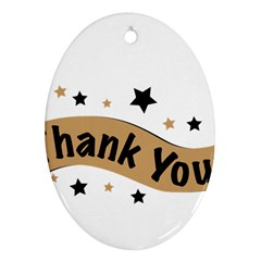 Thank You Lettering Thank You Ornament Banner Ornament (oval) by BangZart