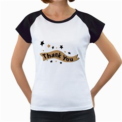 Thank You Lettering Thank You Ornament Banner Women s Cap Sleeve T by BangZart