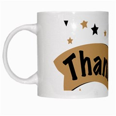 Thank You Lettering Thank You Ornament Banner White Mugs by BangZart