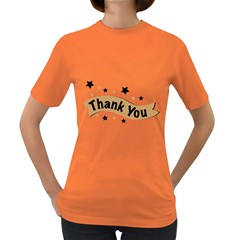 Thank You Lettering Thank You Ornament Banner Women s Dark T Shirt