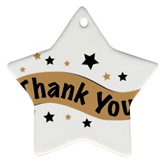 Thank You Lettering Thank You Ornament Banner Star Ornament (two Sides) by BangZart