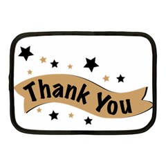Thank You Lettering Thank You Ornament Banner Netbook Case (medium)