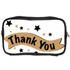 Thank You Lettering Thank You Ornament Banner Toiletries Bags 2 Side by BangZart