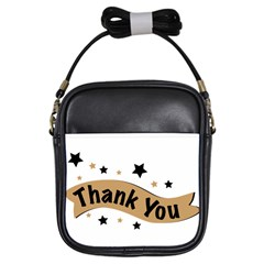 Thank You Lettering Thank You Ornament Banner Girls Sling Bags