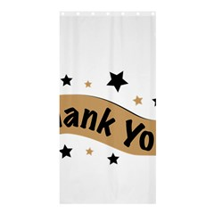 Thank You Lettering Thank You Ornament Banner Shower Curtain 36  X 72  (stall)  by BangZart