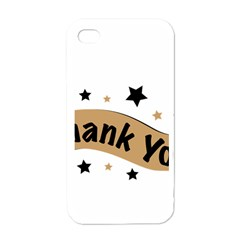 Thank You Lettering Thank You Ornament Banner Apple Iphone 4 Case (white)