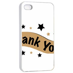Thank You Lettering Thank You Ornament Banner Apple Iphone 4/4s Seamless Case (white)