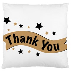 Thank You Lettering Thank You Ornament Banner Large Cushion Case (two Sides) by BangZart