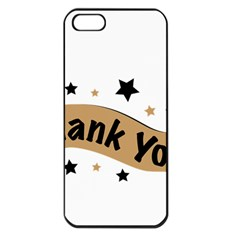Thank You Lettering Thank You Ornament Banner Apple Iphone 5 Seamless Case (black)