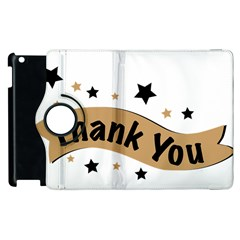 Thank You Lettering Thank You Ornament Banner Apple Ipad 3/4 Flip 360 Case