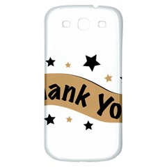 Thank You Lettering Thank You Ornament Banner Samsung Galaxy S3 S Iii Classic Hardshell Back Case by BangZart