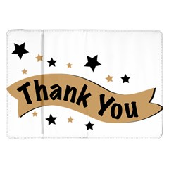 Thank You Lettering Thank You Ornament Banner Samsung Galaxy Tab 8 9  P7300 Flip Case by BangZart