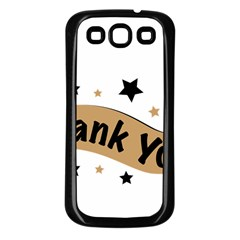 Thank You Lettering Thank You Ornament Banner Samsung Galaxy S3 Back Case (black)