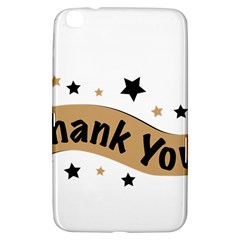 Thank You Lettering Thank You Ornament Banner Samsung Galaxy Tab 3 (8 ) T3100 Hardshell Case