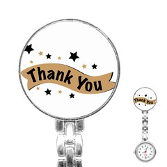 Thank You Lettering Thank You Ornament Banner Stainless Steel Nurses Watch by BangZart