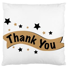 Thank You Lettering Thank You Ornament Banner Large Flano Cushion Case (two Sides) by BangZart