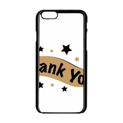 Thank You Lettering Thank You Ornament Banner Apple Iphone 6/6s Black Enamel Case