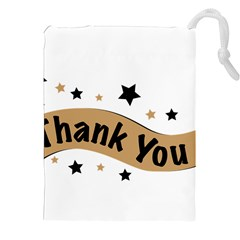 Thank You Lettering Thank You Ornament Banner Drawstring Pouches (xxl)