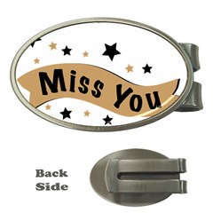 Lettering Miss You Banner Money Clips (oval)  by BangZart