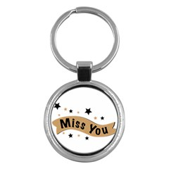 Lettering Miss You Banner Key Chains (round)  by BangZart