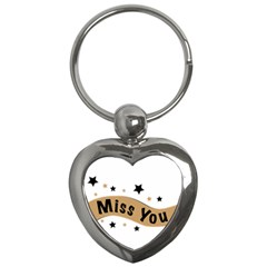 Lettering Miss You Banner Key Chains (heart)  by BangZart