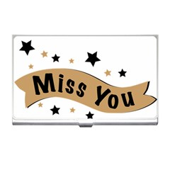 Lettering Miss You Banner Business Card Holders by BangZart
