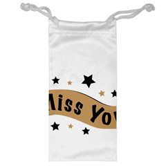Lettering Miss You Banner Jewelry Bag