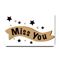 Lettering Miss You Banner Small Doormat  by BangZart