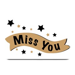 Lettering Miss You Banner Plate Mats
