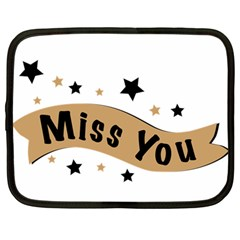 Lettering Miss You Banner Netbook Case (large) by BangZart