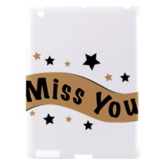 Lettering Miss You Banner Apple Ipad 3/4 Hardshell Case (compatible With Smart Cover)
