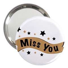 Lettering Miss You Banner 3  Handbag Mirrors