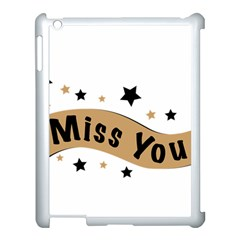 Lettering Miss You Banner Apple Ipad 3/4 Case (white)